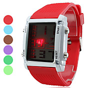 Unisex Multi-Functional Style Silicone LED Digital Wrist Watch (Assorted Colors)