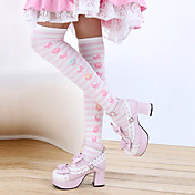 Stribet bomuld Punk Lolita Stockings (3 farver)