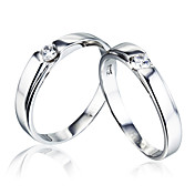 Personlized 925 Silver Couple's Rings