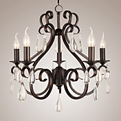 40W Artistic Chandelier with 5 Lights in Candle Feature