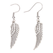 Wings Shape Antique Silver Earrings
