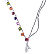 Gorgeous Alloy Plating 23K Gold With Cubic Zirconia Women's Necklace(More Colors)