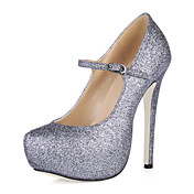 MARZIA - Stiletto Salto Stiletto com Glitter Brilhante