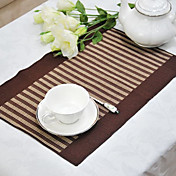 Set of 6 Placemats Cotton Stripe