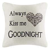 Good Night Cotton/Linen Decorative Pillow Cover
