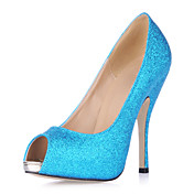 Sparkling Glitter Stiletto Heel Peep Toe Sandals / Pumps Party / Evening Shoes