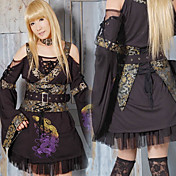 Deluxe Dragon Singing Long Sleeve Short Black Cotton Wa Lolita Kimono(Bust:96CM)(2 Colors)