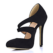 Elegant Suede Stiletto Heel Closed Toe Pumps Party / Evening Shoes