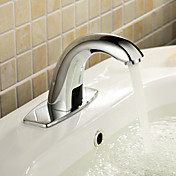 Automatic Sensor Bathroom Sink Faucet with Escutcheon Plate (Cold)