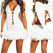 Hot White Spandex With Wings Angle Costumes(3 Pieces)