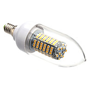 E14 8W 138x3528SMD 620LM 3000-3500K Warm White Light LED Candle Bulb (220V)
