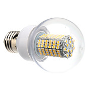 E27 8W 138x3528SMD 620LM 3000-3500K Warm White Light LED Ball Bulb (220V)