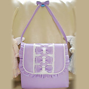 Handmade Lovely Ruffled PU Leather Sweet Lolita Bag with Bow