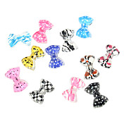 24PCS 3D Half Cover Resin Nail Decorations Cartoon Bow Tie