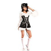 Damen Sexy Black Pirate Halloween-Kostme