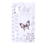 Butterfly Pattern Soft Case para LG E612 Optimus L5