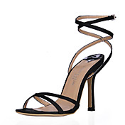Lindos de seda Stiletto Sandálias salto com fivela partido / Evening Shoes (mais cores)