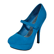 Gorgeous Suede Stiletto Heel Pumps With Button Party / Evening Shoes