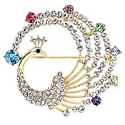 Stylish Alloy With Rhinestones / Crystal Brooch (More Colors)