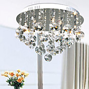 100W Contemporary Artistic Ceiling Light with 5 Lights and Crystal Bead Pendants