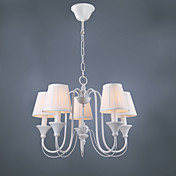 Modern Chandelier with 5 Lights in White