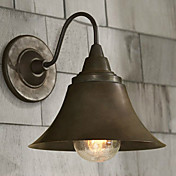 60W Artistic Wall Light with Retro Metal Shade and Bracket