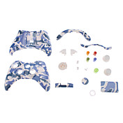 Vervanging Controller Case Shell voor XBOX 360 (blauw en wit Camouflage)