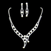 Gorgeous Alloy With Rhinestone/Imitation Pearl Women's Jewelry Set Including Necklace,Earrings