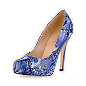 Fabulous Patent Leather Stiletto Heel Pumps With Animal Print Party / Evening Shoes (More Colors)