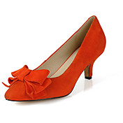 Suede Kitten Heel Pumps With Bowknot Party / Evening Shoes (More Colors)