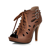 Leatherette Stiletto Heel Sandals With Lace-up Party / Evening Shoes (More Colors)
