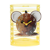 "5"" Lovely Bear Style Pencil Vase Analog Alarm Clock (1xButton Battery)"