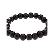 8 mm Round Black Agate Bracelet
