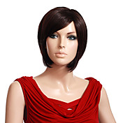Capless High Quality Synthetic Short Straight Brown Wigs