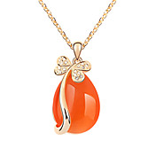 Stylish Alloy With Imitation Opal Women's Necklace (More Colors)