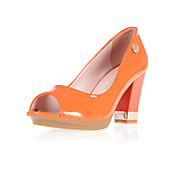 Leatherette Chunky Heel Peep Toe / Pumps Party / Evening Shoes (More Colors)