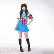Japansk skoluniform cosplay drkt inspirerad av Haruhi Suzumiya