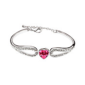 Elegant Alloy Plating Platinum With Crystal Women's Bracelet(More Colors)