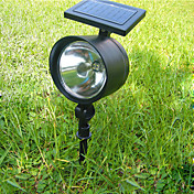 Solar Powered 4-LED White Light Flood Light Landscape Garden Lamp