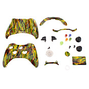 Vervanging Controller Case Shell voor XBOX 360 (geel en groen Camouflage)