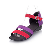 Gorgeous Suede Low Heel Sandals With Buckle Party / Evening Shoes (More Colors)