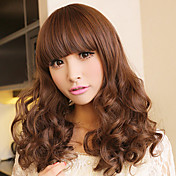 Zipper Light Brown 60cm Princess Lolita Curly Wig
