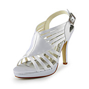 Gorgeous Satin Stiletto Heel Sandals With Buckle Wedding Shoes (More Colors)