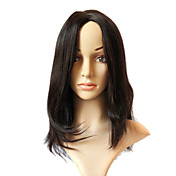 Sexy Hot Sale 100% Inder Remy Long Black Wavy Full Lace Wig