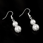 Chic Imitation Pearl With Alloy Plating Bridal Earrings
