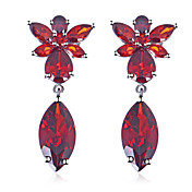 Platinum Plated Cubic Zirconia Chandeliar Earrings(More Colors)