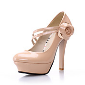 Laklder Stiletto Heel pumper med blomst fest / aften sko (flere farver)