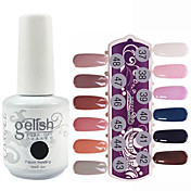 Lentejuelas 1PCS UV Gel Color Nail Polish No.277-288 Soak-off (colores surtidos, 15 ml)