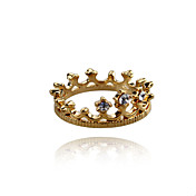 Charme lega Crown design anello di cristallo