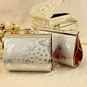 Silver Butterfly Print Purse Favor Bag (Set of 12)